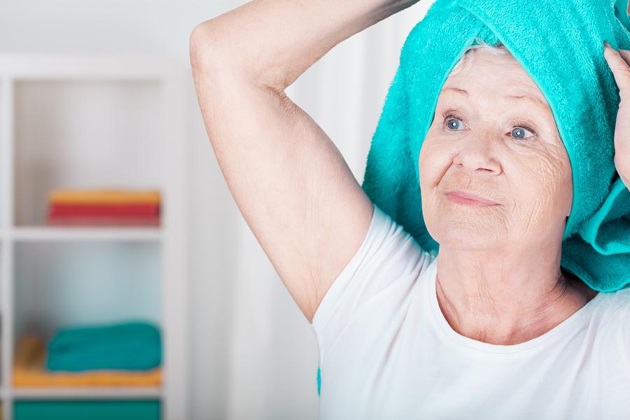 Helping Senior with Bath